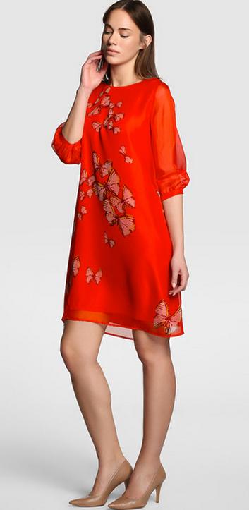 Vestido rojo túnica