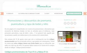 Códigos promocionales Mamuchi.es