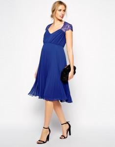 Vestido Asos premamá azul cobalto