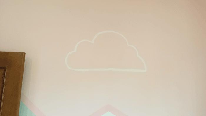 Boceto de nube a mano alzada