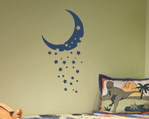 Vinilos decorativos de lunas para beb for Vinilos infantiles con nombre baratos