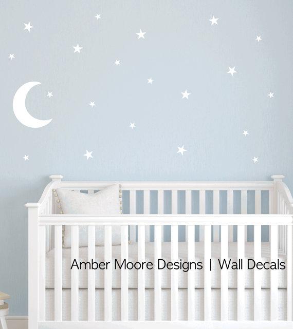 Vinilo bebé luna