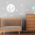 Vinilos decorativos de lunas para la pared del bebé