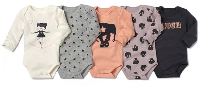 Bodies de bebé de la Redoute