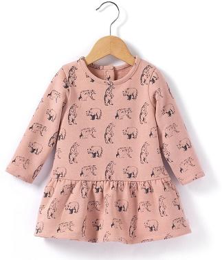 Vestido de felpa de niña de la Redoute