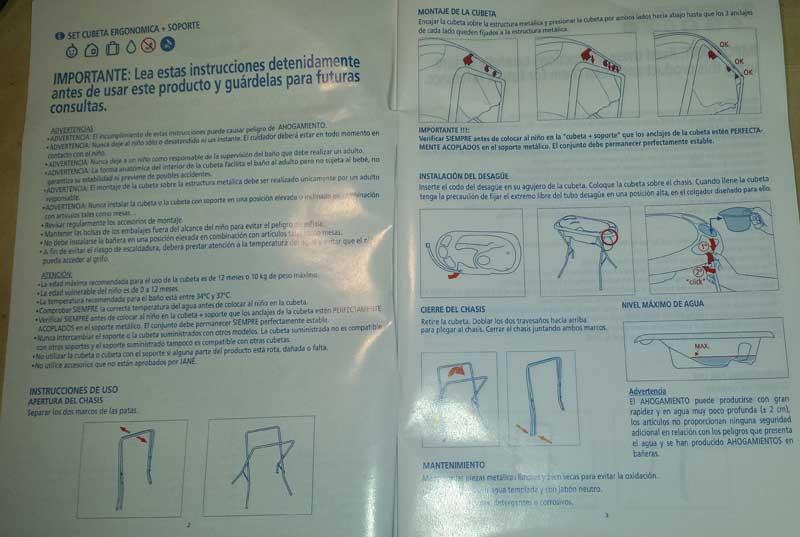 Instrucciones de la bañera Squid de Jané
