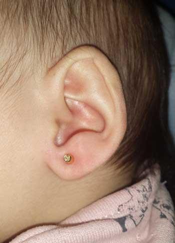 Pendientes para las orejitas de mi bebé
