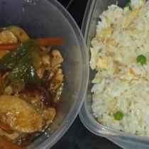 Comida china guisantes