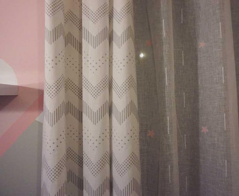 Detalle cortinas habitación bebé