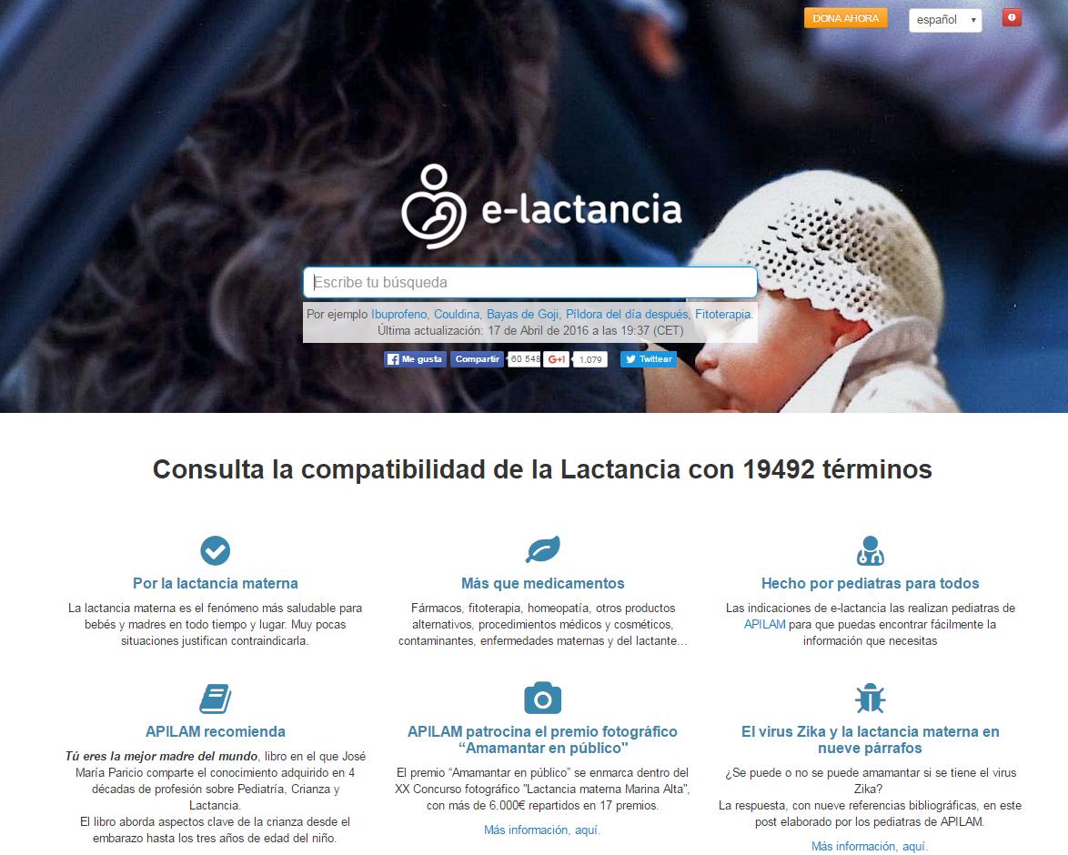 e-lactancia.org: medicación y lactancia
