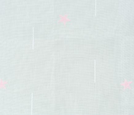 Visillo con estrellas rosa