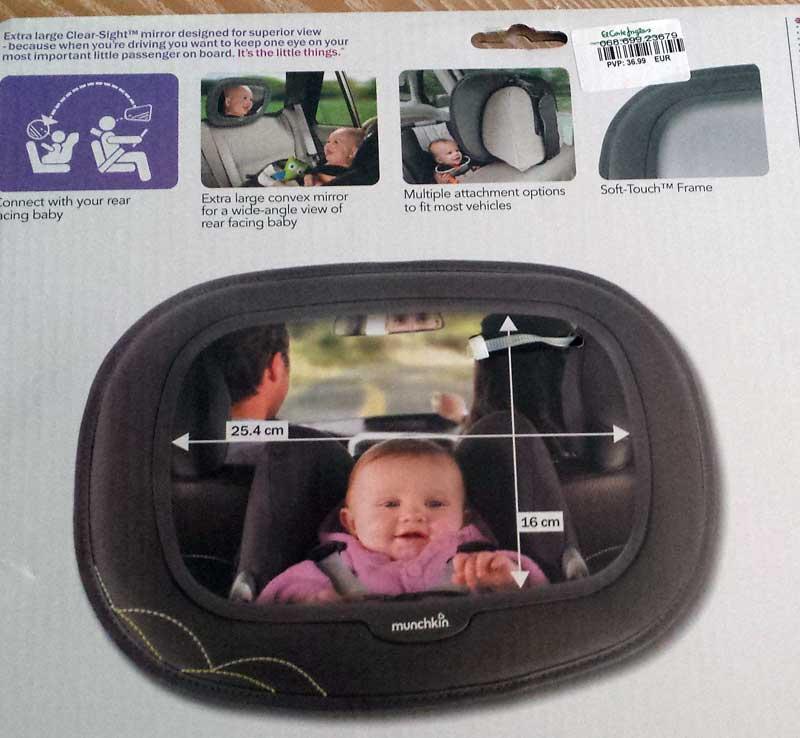 Espejos retrovisores de coche para beb s for Espejo para mirar bebe auto