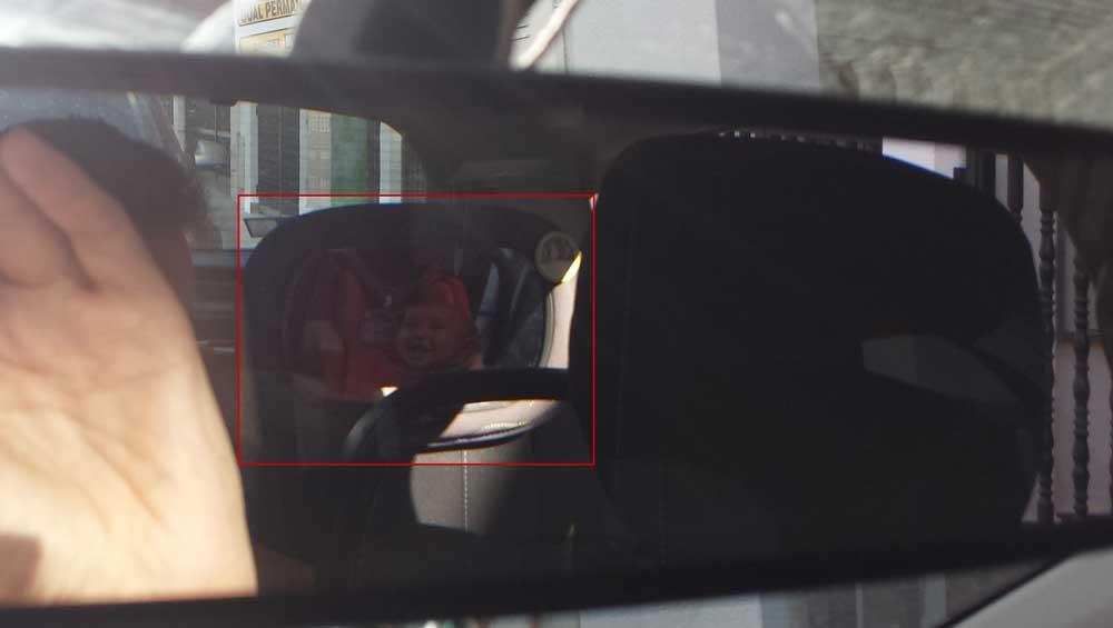 Retrovisor delantero visibilidad bebé