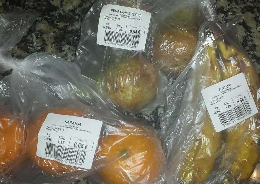 Fruta para papilla: precios