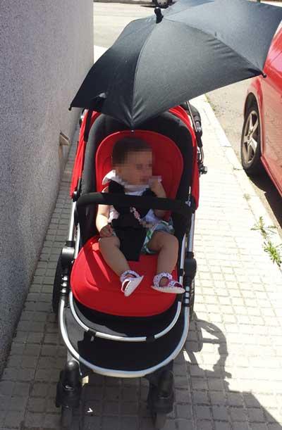 Sombrilla carrito bebé