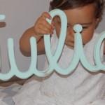 Letras vintage para el dormitorio del bebé