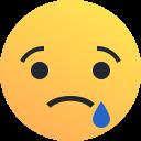 Interpretar las emociones: cara triste